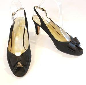 Salvatore Ferragamo | vintage slingback satin heel